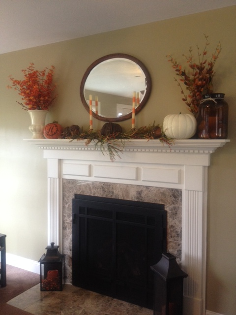 Enjoy your Fall mantle while there is still time left!