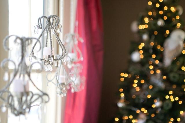 mini silver chandeliers