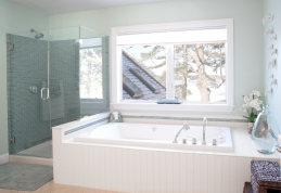 photo of master bathroom tub