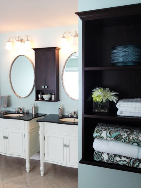 photo of master bathroom vanities and custom cabinets