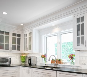 photo of white painted kitchen