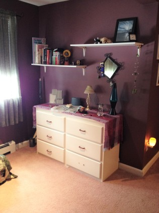 photo of dresser and shelving