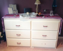 photo of dated dresser