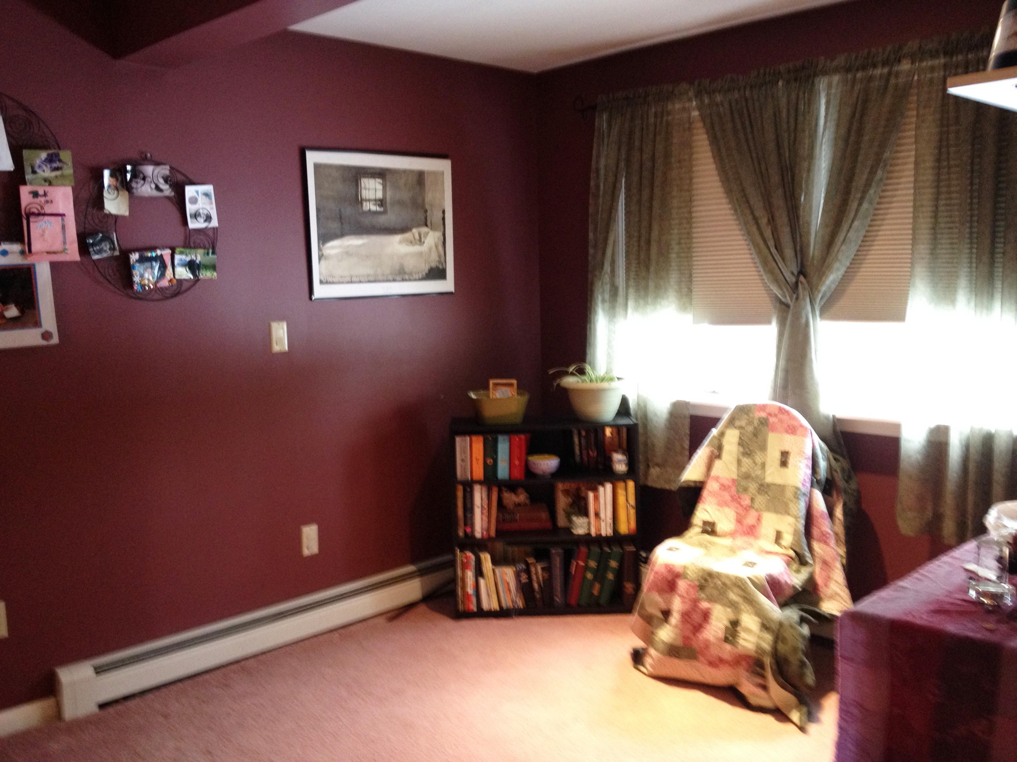 photo of bedroom sitting area