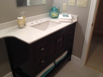 photo of bathroom vanity and countertop