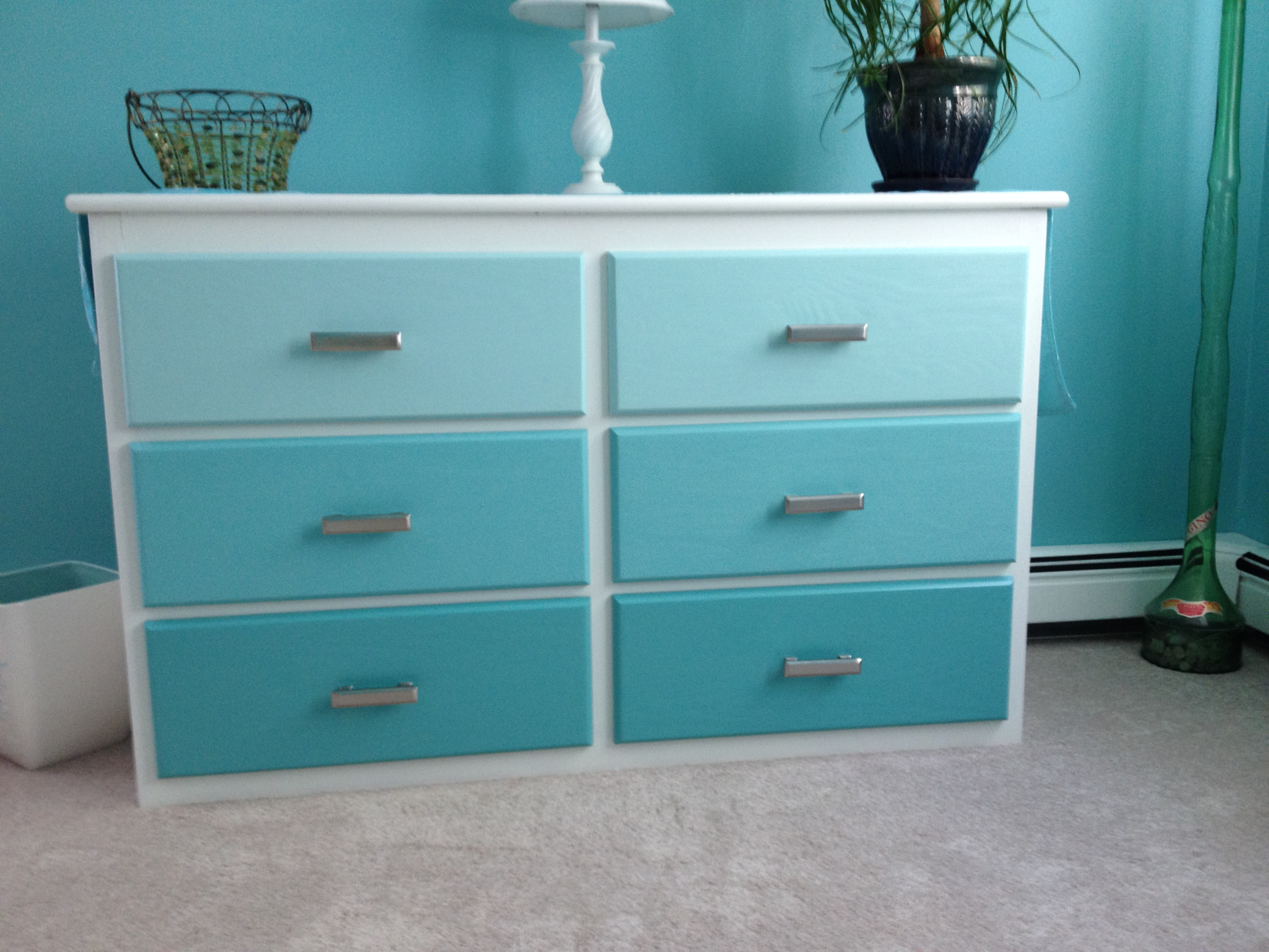 photo of ombre painted dresser