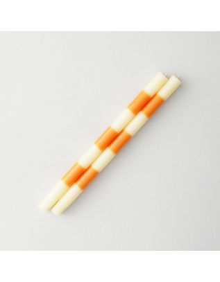 photo of striped taper candles