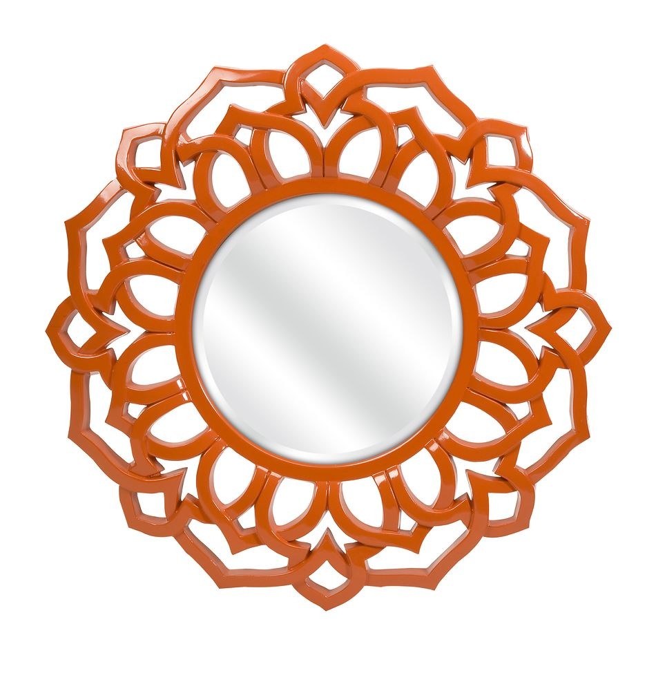 photo of essential orange wall mirror