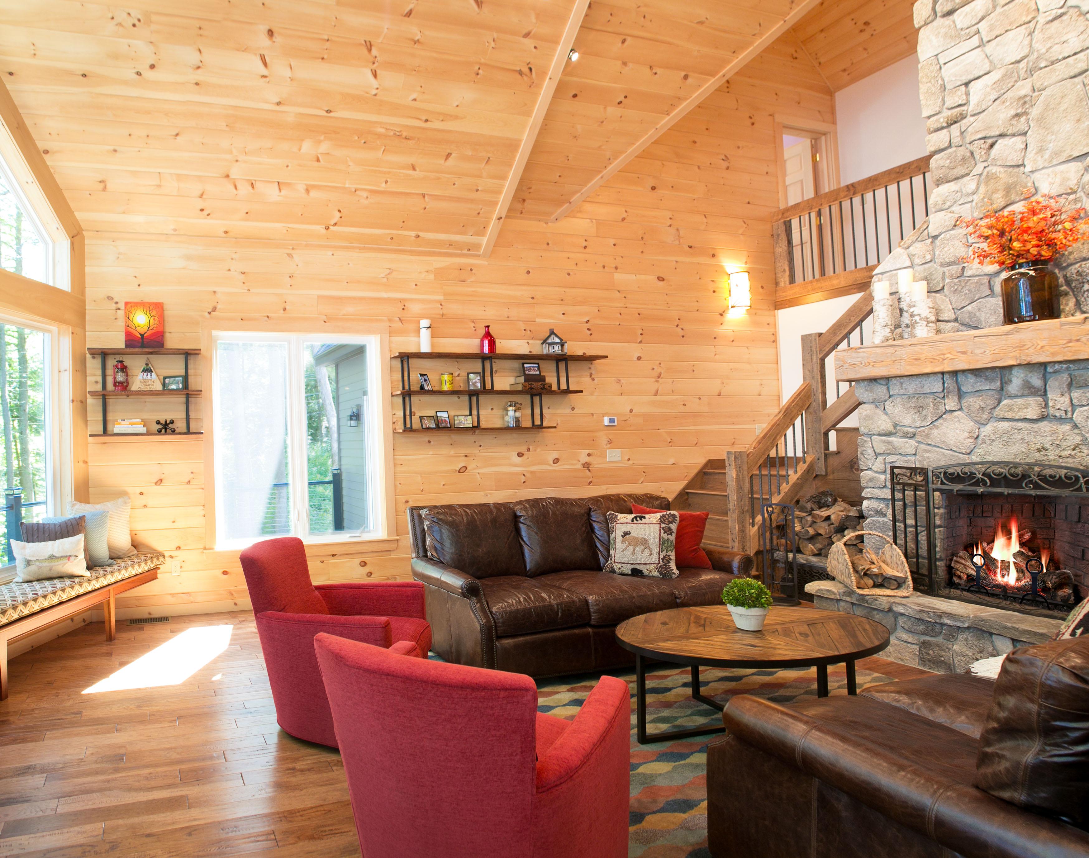 photo of lake house great room