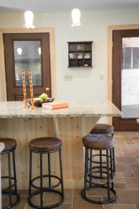 photo of kitchen island and barstools