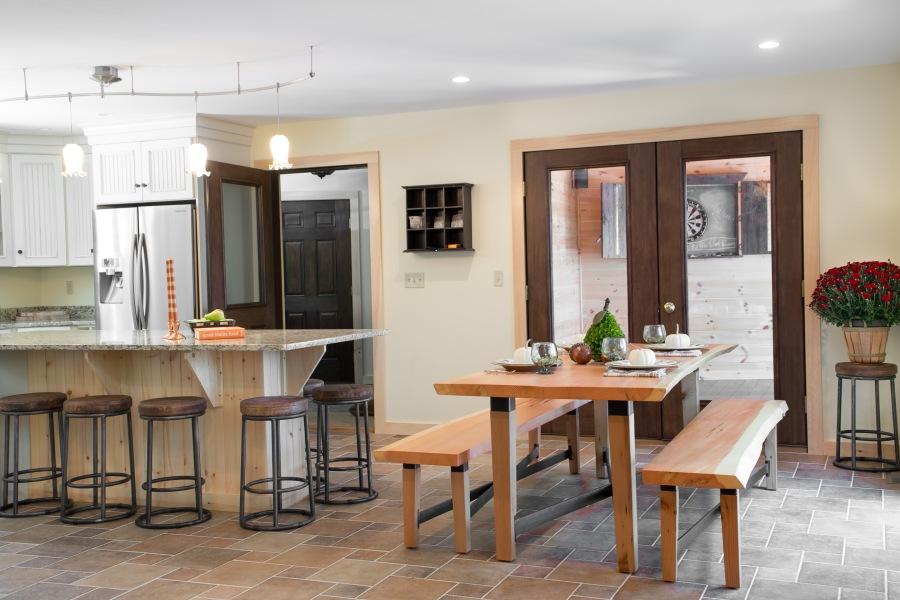 photo of lake house kitchen