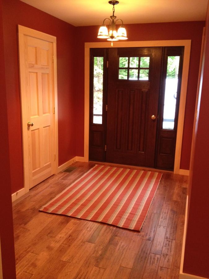 photo of lake house foyer