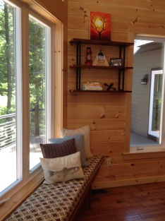 photo of window seat and shelves