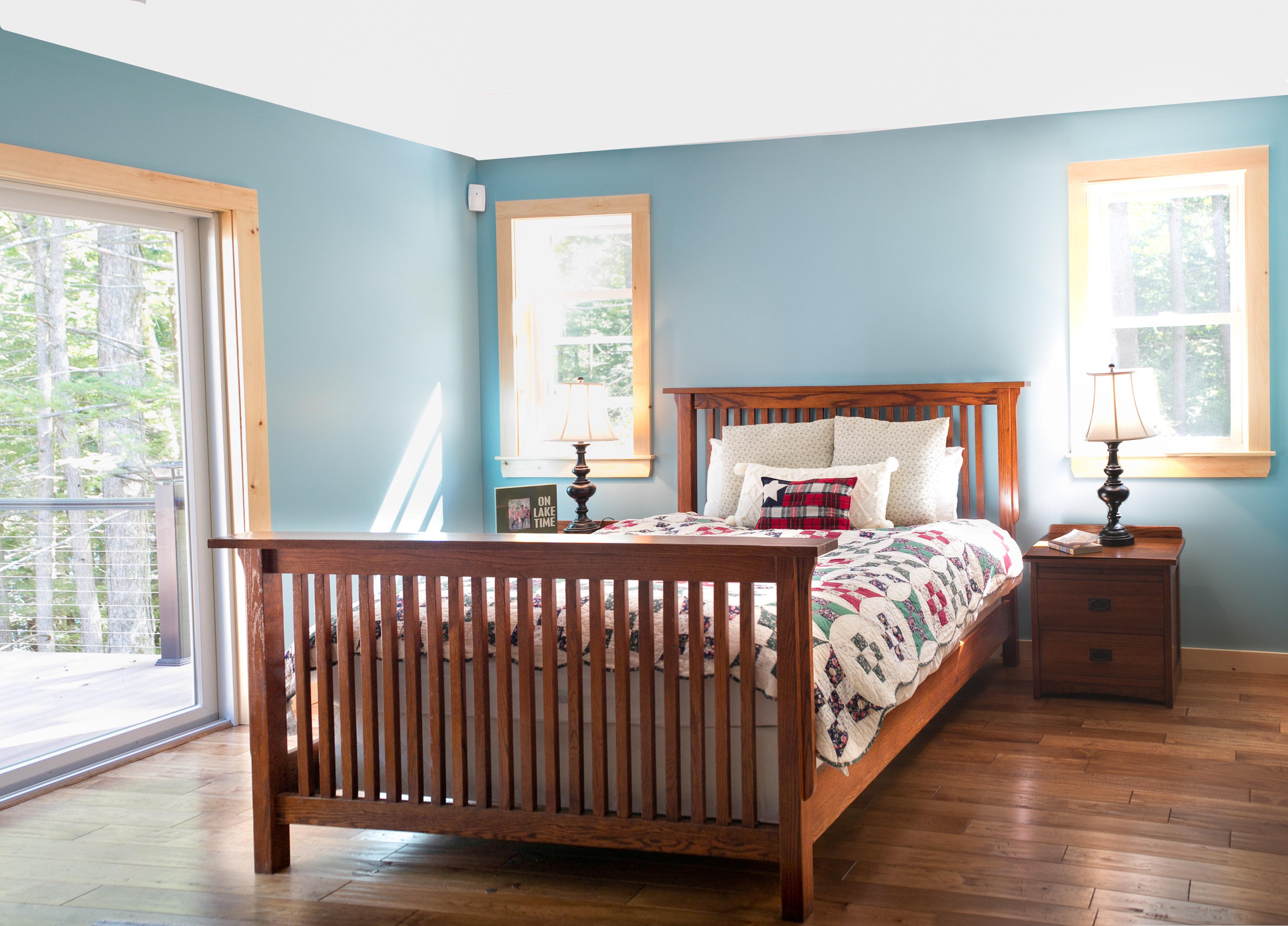 photo of lake house bedroom