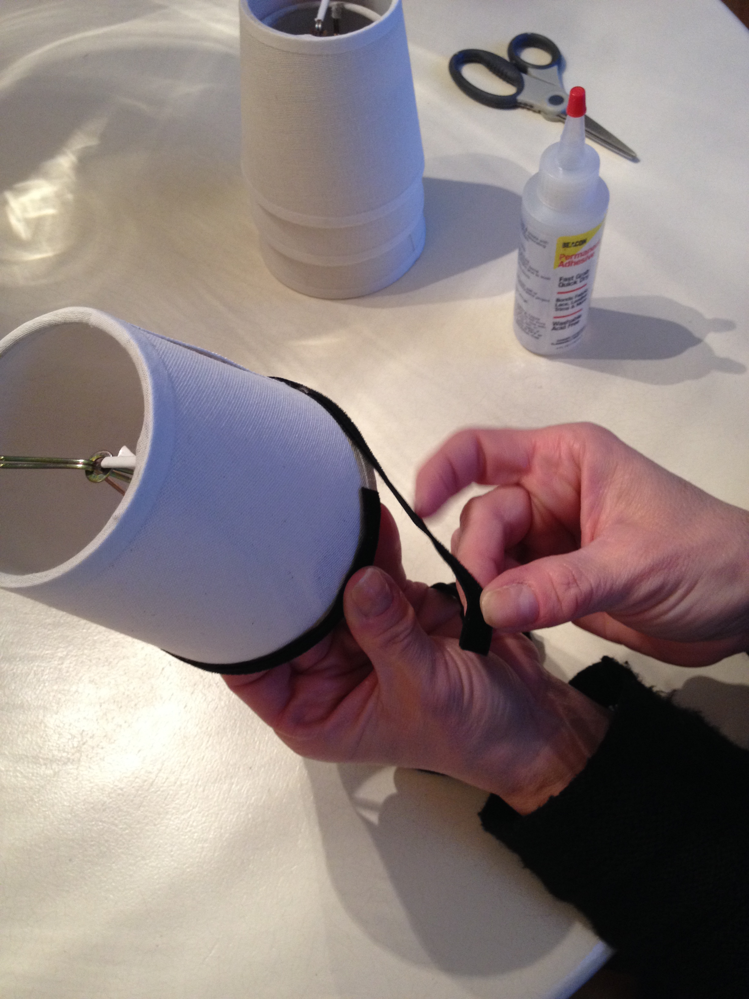 photo of trim being applied