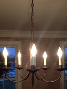 photo of simple chandelier