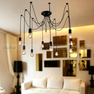 photo of edison light chandelier
