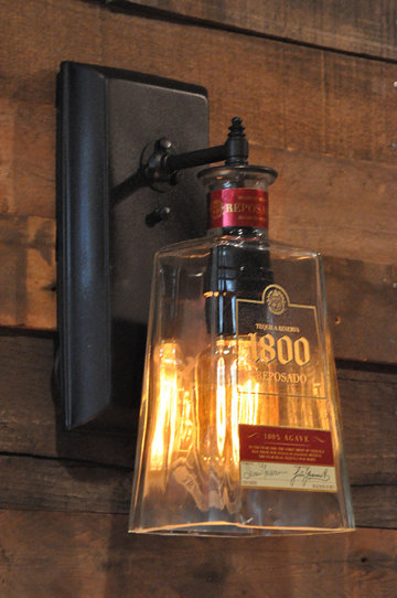 photo of tequila bottle wall sconce